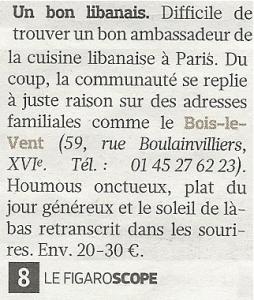 Le FigaroScope - Juin 2011